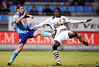 Fotball<br /> Frankrike<br /> Foto: DPPI/Digitalsport<br /> NORWAY ONLY<br /> <br /> FOOTBALL - FRENCH CHAMPIONSHIP 2008/2009 - L1 - LE HAVRE AC v STADE RENNAIS FC - 07/02/2009 - ABOU KADER MANGANE (REN) / FLORIAN MARANGE (HAV)