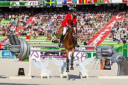 Luca Maria Moneta, (ITA), Neptune Brecourt - World Champions, - Second Round Team Competition - Alltech FEI World Equestrian Games™ 2014 - Normandy, France.<br /> © Hippo Foto Team - Leanjo De Koster<br /> 25/06/14