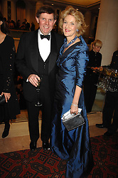 Lawyer FIONA SHACKLETON and her husband IAN SHACKLETON at a Gala dinner in aid of Chickenshed held at the Guildhall, City of London on 29th October 2007.<br />