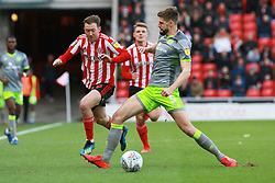 March 16, 2019 - Sunderland, Tyne and Wear, United Kingdom - Sunderland's Aidan McGeady contests for the ball with Walsall's Jon Guthrie during the Sky Bet League 1 match between Sunderland and Walsall at the Stadium Of Light, Sunderland on Saturday 16th March 2019. (Credit: Steven Hadlow | MI News) (Credit Image: © Mi News/NurPhoto via ZUMA Press)