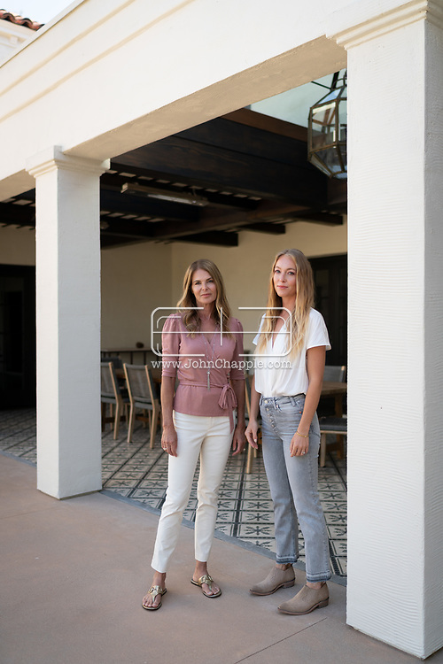 July 20, 2021. Brentwood, California. Actress Catherine Oxenberg with her daughter India Oxenberg, pictured at Catherine's Brentwood home.<br /> Photo copyright John Chapple / www.JohnChapple.com