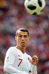 June 20, 2018 - Moscow, Russia - 180620 Cristiano Ronaldo of Portugal during the FIFA World Cup group stage match between Portugal and Morocco on June 20, 2018 in Moscow..Photo: Petter Arvidson / BILDBYRÃ…N / kod PA / 92072 (Credit Image: © Petter Arvidson/Bildbyran via ZUMA Press)