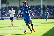 Alessio Riccardi of Italy (10) during the UEFA European Under 17 Championship 2018 match between England and Italy at the Banks's Stadium, Walsall, England on 7 May 2018. Picture by Mick Haynes.