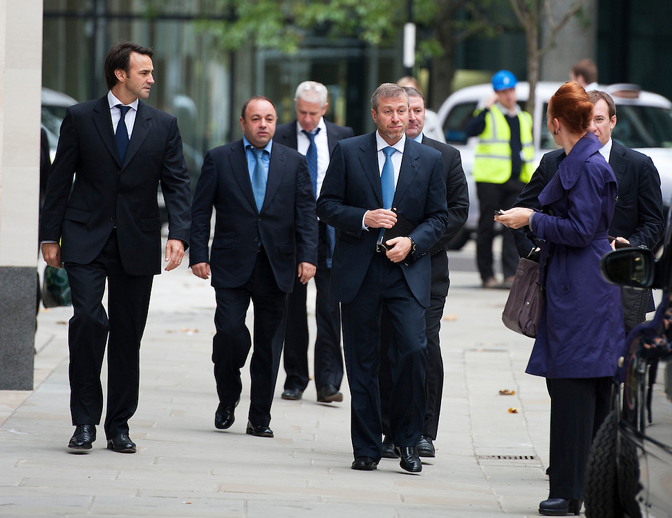 Roman Abramovich arrives The High Court on October 13, 2011 in London, England. Mr Berezovsky is alleging a breach of contract over business deals with fellow Russian and Chelsea Football Club owner Roman Abramovich and is claiming more than £3.2bn in damages..