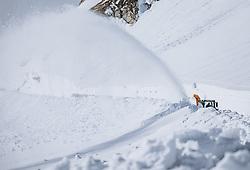 THEMENBILD - Räumfahrzeug bei der Schneeräumung der Strasse. Die Grossglockner Hochalpenstrasse verbindet die beiden Bundeslaender Salzburg und Kaernten und ist als Erlebnisstrasse vorrangig von touristischer Bedeutung, aufgenommen am 29. April 2021 auf der Grossglockner Hochalpenstrasse, Österreich // Snow blower clearing the road from the Snow. The Grossglockner High Alpine Road connects the two provinces of Salzburg and Carinthia and is as an adventure road priority of tourist interest at the Grossglockner High Alpine Road, Austria on 2021/04/29. EXPA Pictures © 2021, PhotoCredit: EXPA/ JFK
