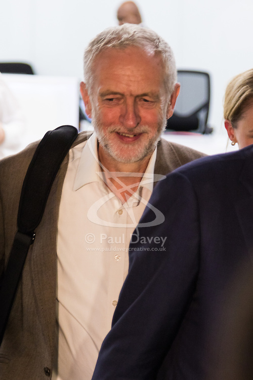 Westminster, September 20th 2016. Labour Leader Jeremy Corbyn leaves the Labour Party Headquarters following a meeting of the NEC.