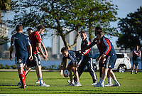 3 June 2013; Conor Murray, British & Irish Lions, during squad training ahead of their game against Western Force on Wednesday. British & Irish Lions Tour 2013, Squad Training, Langley Park, Perth, Australia. Picture credit: Stephen McCarthy / SPORTSFILE