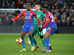 January 12, 2019 - London, England, United Kingdom - London, England - 12 January, 2019.Crystal Palace's Wilfried Zaha.during English Premier League between Crystal Palace and Watford at Selhurst Park stadium , London, England on 12 Jan 2019. (Credit Image: © Action Foto Sport/NurPhoto via ZUMA Press)