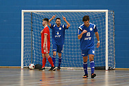 Deaf Futsal European championship qualifying tournament,  action from Wales (in red)  v Bosnia & Herzegovina at Cardiff Metropolitan University, in Cardiff , South Wales on Friday 19th January 2018.  pic by Andrew Orchard