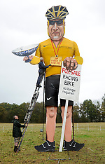 OCT 31 2012 Lance Armstrong effigy