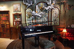 A piano in the Walled Off Hotel (owned by Bansky) near the wall of separation in Bethlehem. From a series of travel photos taken in Jerusalem and nearby areas. Photo date: Wednesday, August 1, 2018. Photo credit should read: Richard Gray/EMPICS