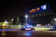 The Grand 16 cinema in Lafayette Louisiana hours after a mass shooting took place.