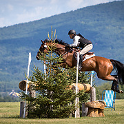 Brandon McMechan (CAN) and Oscar 's Wild at the Bromont CCI-S Horse Trials in Bromont, Quebec, Canada.