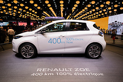 New Renault Zoe plug-in electric car at Paris Motor Show 2016