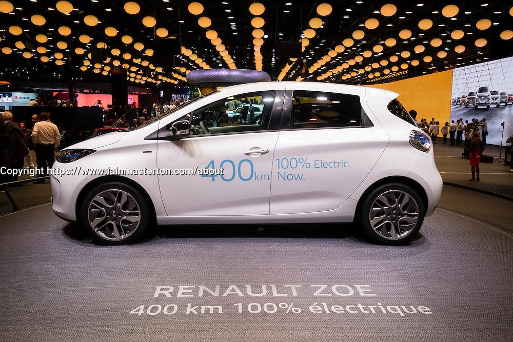 New Renault Zoe plug-in electric car at Paris Motor Show 2016