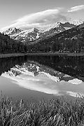 Sierra Nevada reflected in Mountain Lake, John Muir Wilderness, Inyo National Forest, California