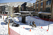SHOT 3/2/17 12:45:15 PM - Park City, Utah lies east of Salt Lake City in the western state of Utah. Framed by the craggy Wasatch Range, it's bordered by the Deer Valley Resort and the huge Park City Mountain Resort, both known for their ski slopes. Utah Olympic Park, to the north, hosted the 2002 Winter Olympics and is now predominantly a training facility. In town, Main Street is lined with buildings built primarily during a 19th-century silver mining boom that have become numerous restaurants, bars and shops. (Photo by Marc Piscotty / © 2017)