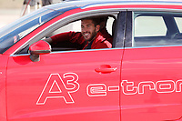 Sergio Ramos participates and receives new Audi during the presentation of Real Madrid's new cars made by Audi in Madrid. December 01, 2014. (ALTERPHOTOS/Caro Marin)