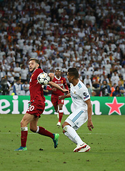 May 26, 2018 - Kiev, Ukraine - Adam Lallana of Liverpool controls the ball during the UEFA Champions League Final between Real Madrid and Liverpool at NSC Olimpiyskiy Stadium on May 26, 2018 in Kiev, Ukraine.  (Photo by Sergii Kharchenko/NurPhoto) (Credit Image: © Sergii Kharchenko/NurPhoto via ZUMA Press)