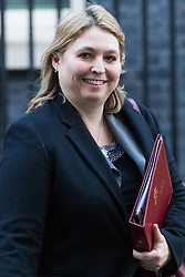 London, January 16 2018. Secretary of State for Northern Ireland Karen Bradley leaves the UK cabinet meeting at Downing Street. © Paul Davey