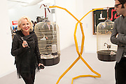 AMANDA ELIASCH, OPENING OF FRIEZE ART FAIR. Regent's Park. London.  12 October 2011. <br /> <br />  , -DO NOT ARCHIVE-© Copyright Photograph by Dafydd Jones. 248 Clapham Rd. London SW9 0PZ. Tel 0207 820 0771. www.dafjones.com.