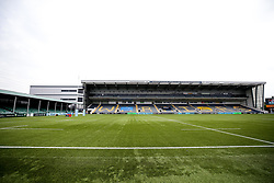 A general view of Sixways Stadium ahead of the Gallagher Premiership fixture between Worcester Warriors and Gloucester Rugby, in behind closed doors conditions due to Covid-19 Protocols - Mandatory by-line: Robbie Stephenson/JMP - 15/08/2020 - RUGBY - Sixways Stadium - Worcester, England - Worcester Warriors v Gloucester Rugby - Gallagher Premiership Rugby