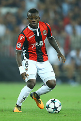 August 22, 2017 - Nice, France - Jean Michael Seri of Nice  during the UEFA Champions League Qualifying Play-Offs round, second leg match, between OGC Nice and SSC Napoli at Allianz Riviera Stadium on August 22, 2017 in Nice, France. (Credit Image: © Matteo Ciambelli/NurPhoto via ZUMA Press)