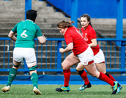 Caryl Thomas of Wales<br /> <br /> Photographer Simon King/Replay Images<br /> <br /> Six Nations Round 5 - Wales Women v Ireland Women- Sunday 17th March 2019 - Cardiff Arms Park - Cardiff<br /> <br /> World Copyright © Replay Images . All rights reserved. info@replayimages.co.uk - http://replayimages.co.uk