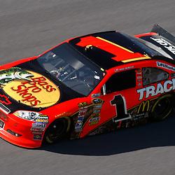 April 17, 2011; Talladega, AL, USA; NASCAR Sprint Cup Series driver Jamie McMurray (1) during the Aarons 499 at Talladega Superspeedway.   Mandatory Credit: Derick E. Hingle