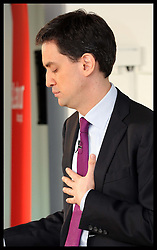 Labour leader Ed Miliband gives  speech in London , Tuesday 10th January 2012.  Photo by: Stephen Lock / i-Images