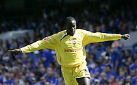 Patrick Agyemang celebrates after scoring.<br />Ipswich v Preston. Picture by Barry Bland 29/08/05