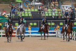 Bost, Roger Yves (FRA);<br /> Staut, Kevin (FRA);<br /> Leprevost, Penelope (FRA);<br /> Rozier, Philippe (FRA) <br /> Rio de Janeiro - Olympische Spiele 2016<br /> © www.sportfotos-lafrentz.de