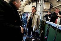 30 NOV 2010, BERLIN/GERMANY:<br /> Karl-Theodor zu Guttenberg, CSU, Bundesverteidigungsminister, nach der Landung in einer Transall nach einem Flug vom Fliegerhorst Jagel nach Berlin, nach der  Rueckkehr der in Afghanistan eingesetzten RECCE TORNADO Aufklaerungsjets<br /> IMAGE: 20101130-01-075<br /> KEYWORDS: Bundeswehr, Armee, Luftwaffe