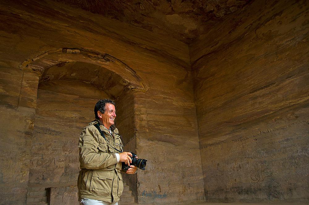 "Blaine Harrington inside ""The Monastery"", Petra, Jordan"
