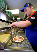 Making pizzas in Dominoes Killarney, Kerry.<br /> Picture by Don MacMonagle -macmonagle.com