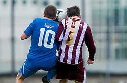Dejan Zigon of Gorica vs Klemen Sturm of Triglav during football match between ND Gorica and NK Triglav in 16th Round of PrvaLiga NZS 2012/13 on November 3, 2012 in Nova Gorica, Slovenia. (Photo By Vid Ponikvar / Sportida)