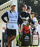 Golf - 2019 BMW PGA Championship - Thursday, First Round<br /> <br /> Rory McIlroy of England with his caddie, at the West Course, Wentworth Golf Club.<br /> <br /> COLORSPORT/ANDREW COWIE