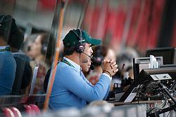 Pessoa Rodrigo (BRA) <br /> Guest commentator Equidia<br /> PSI FEI European Championships Jumping - Herning 2013<br /> © Dirk Caremans