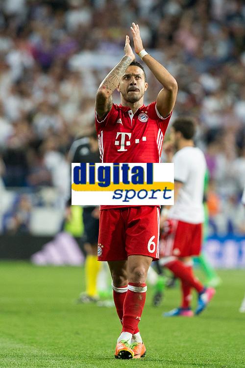 Thiago Alcantara of FC Bayern Munchen during the match of Champions League between Real Madrid and FC Bayern Munchen at Santiago Bernabeu Stadium  in Madrid, Spain. April 18, 2017. (ALTERPHOTOS)