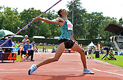 Pierce LePage (CAN) throws 181-2 (55.22m) in the javelin during the decathlon at the DecaStar meeting, Saturday, June 23, 2019, in Talence, France. LePage won with 8,453 points. (Jiro Mochizuki/Image of Sport)
