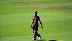 Ryan Davies of Somerset walks off after being dismissed.  - Mandatory by-line: Alex Davidson/JMP - 29/08/2016 - CRICKET - Edgbaston - Birmingham, United Kingdom - Warwickshire v Somerset - Royal London One Day Cup semi final