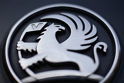 "File photo dated 6/3/2017 of the griffin badge on the front grille of a Vauxhall car, in London. The manufacturer showed a ""reckless disregard for safety"" by not stopping motorists driving Zafira B vehicles it knew were a fire risk, MPs said."