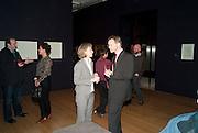 CLAIRE GLYPHE; SIR NICHOLAS SEROTA, Watercolour, Tate Britain. London. 14 February 2011. -DO NOT ARCHIVE-© Copyright Photograph by Dafydd Jones. 248 Clapham Rd. London SW9 0PZ. Tel 0207 820 0771. www.dafjones.com.
