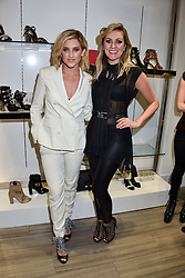 Left To Right, Ashley Roberts and Larissa Eddie at a party to launch Ashley Robert's new footwear range Allyn held ay Larizia, 74 St.John's Wood High Street, London England. 8 February 2017.