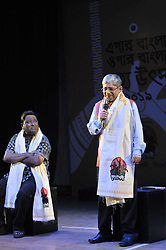 March 24, 2019 - Cheif guest Mr. L Krishnamurt, assistant high commissioner of Indian High Commission giving his welcome speech at the 4th days of  India- Bangladesh dance festival  arrenged by the Nrittyashoilo Dance School in Kazi Nazrul Auditorium, Sylhet ,Bangladesh. (Credit Image: © Md Rafayat Haque Khan/ZUMA Wire)