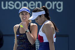 September 8, 2017 - SEP 08, 2017: Martina Hingis (SUI) and Yung-Jan Chan (TPE) during the 2017 U.S. Open Tennis Championships at the USTA Billie Jean King National Tennis Center in Flushing, Queens, New York, USA. (Credit Image: © David Lobel/EQ Images via ZUMA Press)