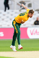 Jake Ball of Nottinghamshire during the Vitality T20 Blast North Group match between Nottinghamshire County Cricket Club and Leicestershire County Cricket Club at Trent Bridge, Nottingham, United Kingdom on 4 September 2020.