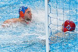 Guus Van IJperen #5 of Netherlands during Netherlands vs Malta on LEN European Aquatics Waterpolo January 21, 2020 in Duna Arena in Budapest, Hungary