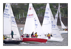 Yachting- The second start of the Bell Lawrie Scottish series 2002 at Inverkip racing to Tarbert Loch Fyne where racing continues over the weekend.<br /><br />National Sonata class start.<br />Peshwa 4 K8243N and scruples K8145N<br /><br />Pics Marc Turner / PFM