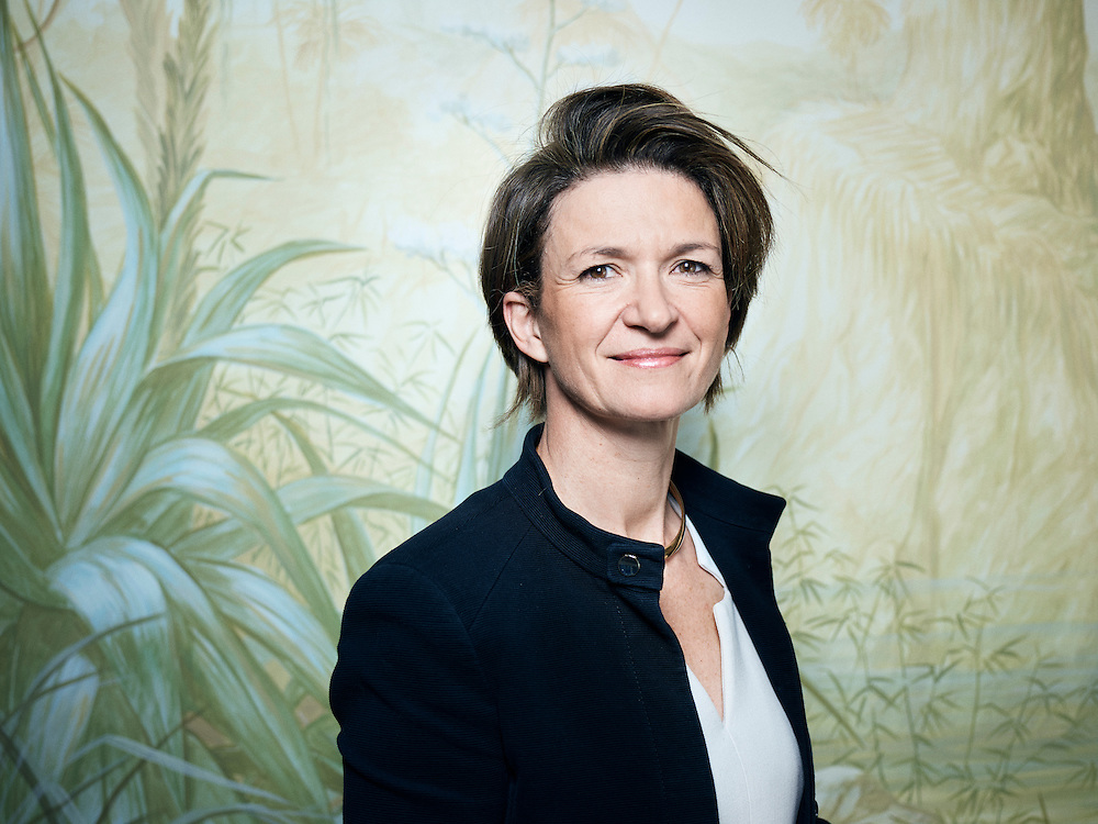 Paris, France. April 27, 2016. Isabelle Kocher, Executive Vice-President, Chief Operating Officer at Engie, posing at the Bristol hotel. Photo: Antoine Doyen